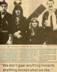 Cheap Trick interview