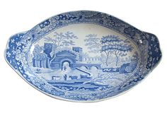 Spode Tower Pattern Dish, C. 1820 on OneKingsLane.com