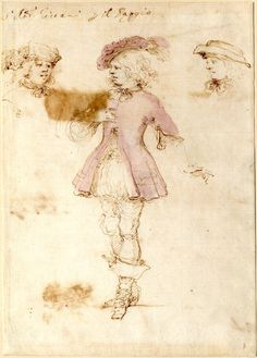 Costume study for a page by Stefano della Bella.