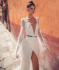 "If the words ""gorgeous long sleeve wedding dress"" set your heart racing, you're in for a treat. Find your perfect long-sleeve wedding dress! Bride Reception Dresses, Long Wedding Dresses, Bridal Dresses, Wedding Gowns, Prom Dresses, Bridesmaid Dresses Long Sleeve, Wedding Dress Sleeves, Long Sleeve Wedding, Long Sleeve Gown"