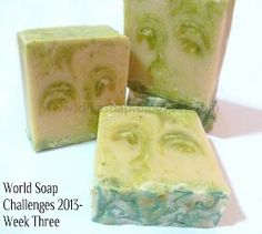 'Nettle images'- Faces in my soap