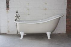 The Chaise bath on feet is a superbly comfortable bath where one end is raised and sloped creating a comfortable lounging position. Copper Bath, Aged Copper, Standing Bath, Victorian Bathroom, Cast Acrylic, Edwardian Fashion, Paint Cans, Clawfoot Bathtub, Unique Colors