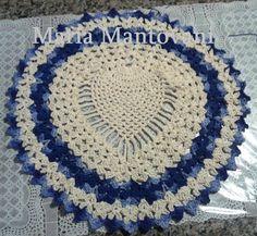Crochetando com Maria Mantovani: Algumas  etapas do tapete do piso de…