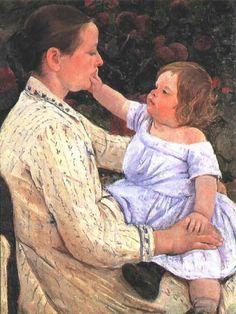 The Child`s Caress, 1890, Mary Cassatt Medium: oil on canvas