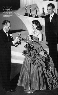 "Loretta Young winning the Oscar for best actress in the ""Farmers Daughter"""