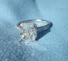 Cushion Cut with Halo. LOVE!