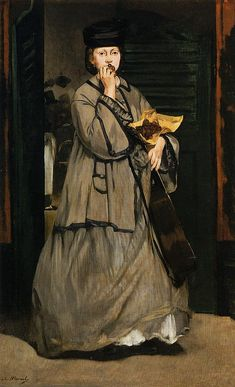 https://flic.kr/p/89u2SY | Edouard Manet:  The Street Singer (1862) | The red-haired woman is Manet's famous model Victorine Meurent. Boston, MoFA; Ath
