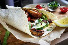 Make this delicious vegan shawarma recipe with grilled Portobellos perfectly marinated, fresh veggies and a smooth, tahini-rich hummus, all wrapped up in a pita bread!