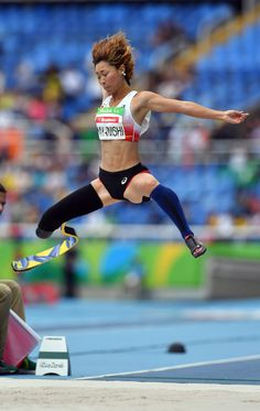 陸上女子走り幅跳び(切断など)で4位になった中西麻耶=井手さゆり撮影 #リオ五輪 #パラリンピック