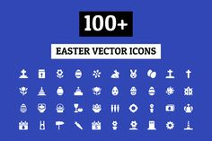 100+ Easter Vector Icons by Creative Stall on Creative Market