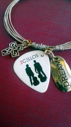 The fabulous 2 Cellos Guitar string bracelet by ImagineLovingArt, $65.00
