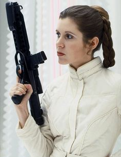 """Carrie Fisher as Leia in """"Star Wars""""."""