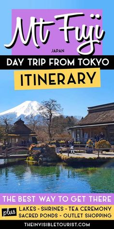 Want to do a Tokyo to Mt Fuji day trip but not sure of the best way to get there? This day trip to Mt Fuji from Tokyo itinerary covers a tea ceremony overlooking Mt Fuji at Lake Kawaguchiko, visiting a sacred shrine, enjoying lunch at the ancient ponds of Oshino Hakkai and finishes off the day shopping at Gotemba Premium Outlets, the largest outlet centre in Japan. This Mount Fuji excursion from Tokyo is a must for your Japan itinerary! | The Invisible Tourist Japan Travel Guide, Asia Travel, Tokyo Travel, Travel Advice, Travel Guides, Travel Articles, Day Trips From Tokyo, Tokyo Trip, Premium Outlets