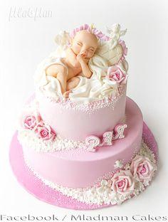Sleeping Baby Girl Cake - Cake by MLADMAN