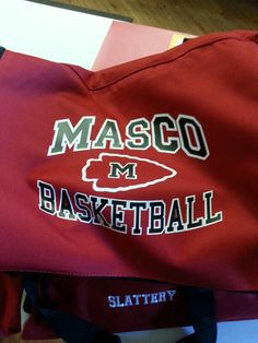 Masco basketball duffle bag (logo on top flap and name on front