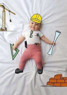 Laura Arquitecto. Fotografía de bebés. Fotografía Infantil. De Mayor Quiero Ser. Ilustración. Fotos divertdas niños.