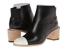 Band of Outsiders Jodhpur Ankle Boot Black/White - Zappos Couture