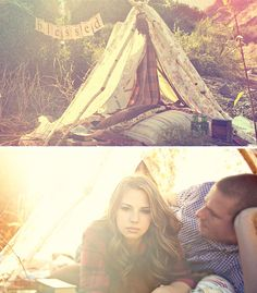 tent engagement photos