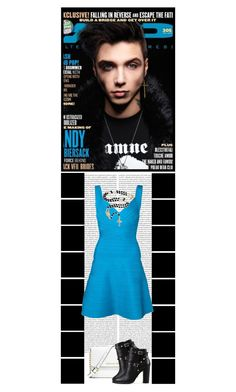 """""""Andy Biersack (BVB)"""" by ilovehedgehogs1029 ❤ liked on Polyvore featuring Oris, MICHAEL Michael Kors, Valentino, Hervé Léger, Bling Jewelry, warpedtour, BVB, BVBARMY, herveleger and MagazineCover"""