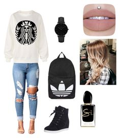 """""""come backk"""" by louiza-ap on Polyvore featuring Topshop, CLUSE and Giorgio Armani"""