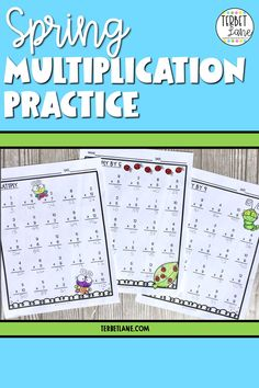 Your students will love practicing their multiplication tables with this set of Spring math multiplication worksheets.Each page includes 24 math problems and fun to color Spring graphics. This set will be a fun addition to your Spring math center. Great for early finishers and at home learning too! #terbetlane Sixth Grade Math, Fourth Grade Math, First Grade Math, Math Teacher, Teaching Math, Teaching Ideas, Math Lesson Plans, Math Lessons, Science Resources