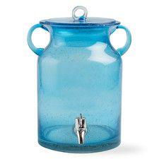 Vintage Bubble Glass Drink Dispenser - Gilt Home Glass Beverage Dispenser, Soap Dispenser, Shops, Vintage Jars, Glass Jug, Decoration, Beverages, Bubbles, Bottle