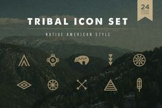FREE DOWNLOAD! Tribal Icon Set by skyboxcreative on Creative Market