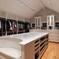 Slanted Ceiling Closet Design Ideas, Pictures, Remodel and Decor