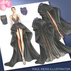 Playing with Couture Paper Dolls #fashion #fashiondesign #fashionillustrator #fashiondesigner #paulkengillustrator  is back! #restoring lost #art #thankyou