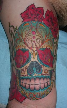 sugar skull...i will have my own twist on a sugar skull as my next tat...love the look, love the meaning