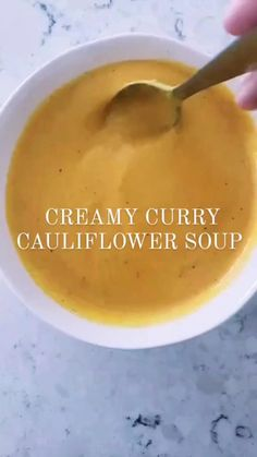 Puree Soup Recipes, Pureed Food Recipes, Healthy Soup Recipes, Cooking Recipes, Easy Indian Dessert Recipes, Curried Cauliflower Soup, Pureed Soup, Evening Meals, Vegan Snacks