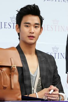 Kim Su Hyun, at a signing event sponsored by J.Estina! #Korea