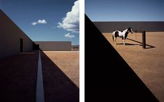 Tom Ford's private ranch in Santa Fe, New Mexico by Japanese architect Tadao Ando.