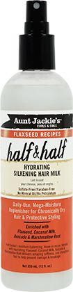Aunt Jackie's Curls & Coils Flaxseed Recipes Half & Half Hydrating Silkening Hair Milk (12 oz.) - NaturallyCurly
