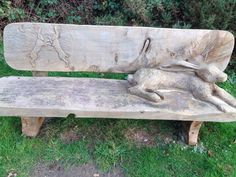 Beautiful hare bench