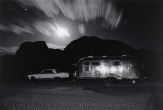Ikko (Ikko Narahara). Airstream Trailer in Moonlight, Utah. 1972