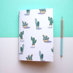 A5 Cactus Notebook by NotOnlyPolkaDots on Etsy                                                                                                                                                                                 More