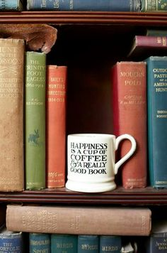 Good coffee, good Books. What an amazing combination.