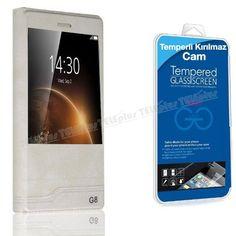 Huawei G8 Yeni Pencereli Kılıf Beyaz + Kırılmaz Cam -  - Price : TL28.90. Buy now at http://www.teleplus.com.tr/index.php/huawei-g8-yeni-pencereli-kilif-beyaz-kirilmaz-cam.html