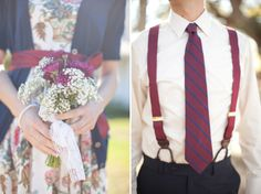 Striped tie and red suspenders for the groom New Years Wedding, Red Wedding, Wedding Day, Wedding Stuff, Red Suspenders, Wedding Suspenders, 3rd Wedding Anniversary, Purple Lilac, Vintage Diy