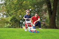Fisher Price Bubble Blower Lawn Mower Toddler Toy w/ All-Terrain Tires & Sounds #FisherPrice