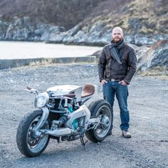 Sub Zero Cool: A Yamaha GTS built at the Arctic Circle Sub Zero Cool: A custom Yamaha GTS 1000 built in a remote village in Norway's… Motorcycle Design, Motorcycle Bike, Bike Design, Moto Bike, Cafe Racer Magazine, Small Trucks, Sub Zero, Bmw K100, Norway Travel