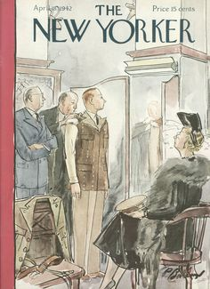 The New Yorker - Saturday, April 18, 1942 - Issue # 896 - Vol. 18 - N° 9 - Cover by : Perry Barlow