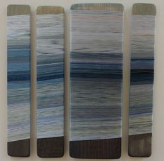 Tidal sway. Hand dyed threads. Helena Emmans.