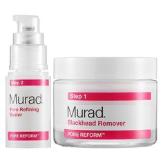 Murad Blackhead and Pore Clearing Duo  | Sephora ❤️❤️❤️❤️ two step proses clears your pose amazing