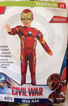 NWT DELUXE BOYS CAPTAIN AMERICA PADDED HALLOWEEN COSTUME MUSCLE CHEST