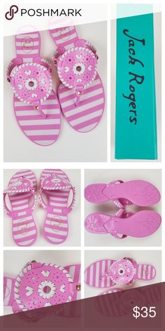 5e4328d32642 New Jack Rogers Pink and White Jelly Sandals Brand new in box! Signature  style.