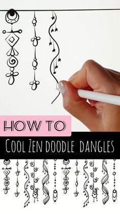 Easy Doodles Drawings, Easy Doodle Art, Doodle Art Designs, Doodle Art Drawing, Zentangle Drawings, Simple Doodles, Doodles Zentangles, Art Drawings Sketches Simple, Zentangle Patterns