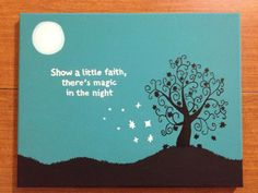Magic in the Night Canvas Quote by ColorMyThoughts on Etsy, $20.00
