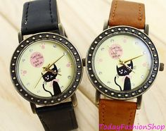 Lovely catCute watchGirl watch Great gift by TodayFashionShop